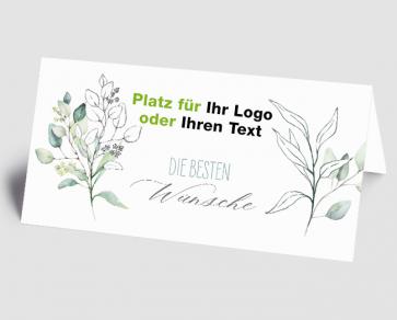 Logo-Grusskarte 1521202 Die besten Wünsche