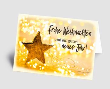 Weihnachtskarte 1521304 Lichterkette, Stern