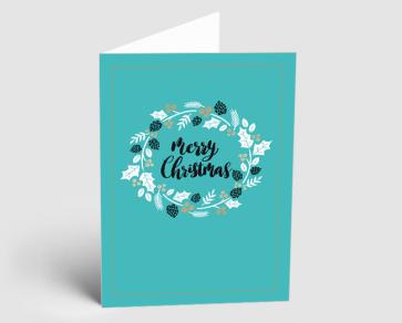 Weihnachtskarte 1521309 Typo-Art Kranz