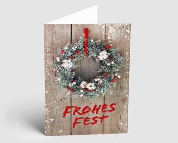 Weihnachtskarte 1521310 Dekokranz