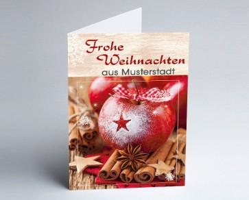 Grüße aus... Weihnachtskarte 156502-113 Zimt-Apfel