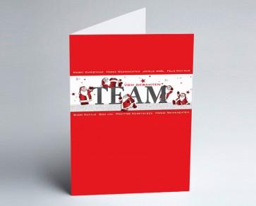 Weihnachtskarte 156505-112 Team rot