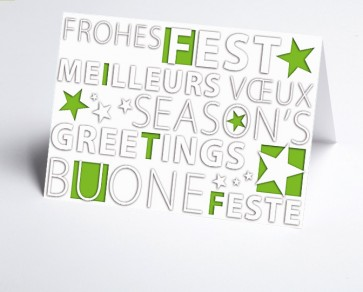Weihnachtskarte 156508-102 Frohes Fest grün