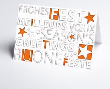 Weihnachtskarte 156508-103 Frohes Fest orange