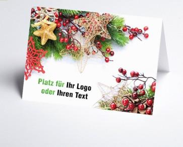Logo-Weihnachtskarte 156516-112 Weihnachtsgesteck