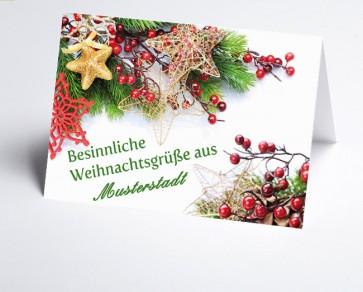 Grüße aus... Weihnachtskarte 156516-113 Weihnachtsgesteck