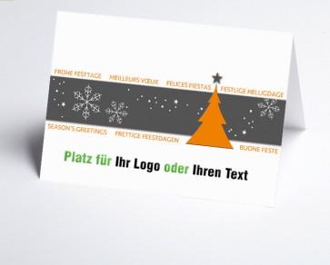 Logo-Weihnachtskarte 156517-103 Winterzauber orange