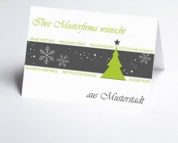 Grüße aus... Weihnachtskarte 156517-113 Winterzauber grün