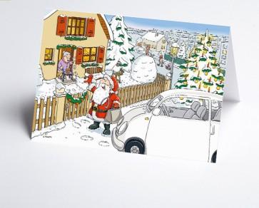 Logo-Weihnachtskarte 156540-112 Branche ambulante Pflege und Hausarzt