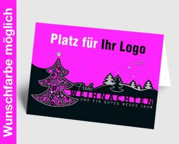 Logo-Weihnachtskarte 157501-111 in Ihrer Wunschfarbe