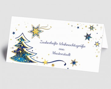 Grüße aus... Weihnachtskarte 157514-113 Sternenzauber