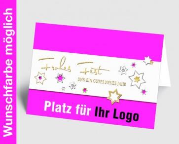 Logo-Weihnachtskarte 157519-111 in Ihrer Wunschfarbe