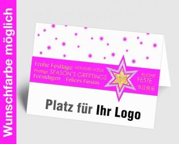 Logo-Weihnachtskarte 157525-111 in Ihrer Wunschfarbe