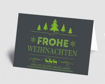 Weihnachtskarte 157526-102 Vintage Line: Frohe Weihnachten grün