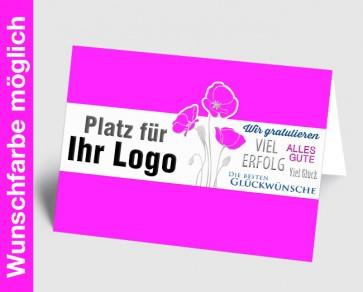 Logo-Grußkarte 157725-111 in Ihrer Wunschfarbe