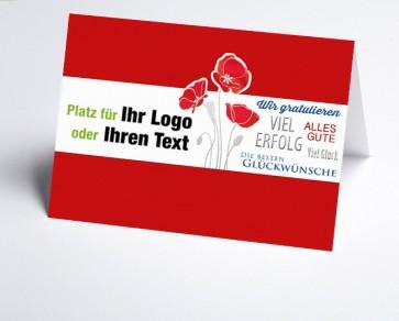 Logo-Grusskarte 157725-112 Mohn