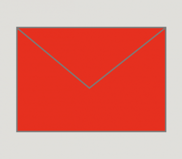 903 Kuvert nassklebend in rot, B6-Format