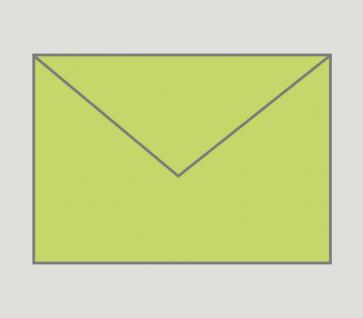 904 Kuvert nassklebend in grün, B6-Format