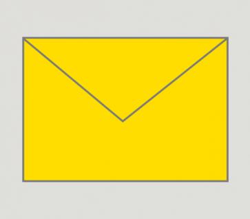 905 Kuvert nassklebend in gelb, B6-Format