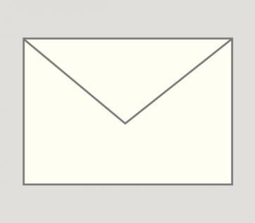 924 Kuvert nassklebend in naturweiß, B6-Format