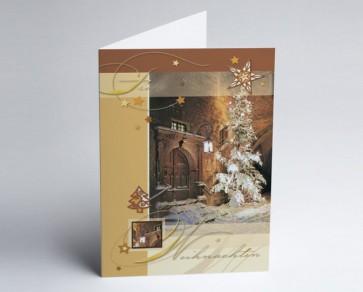 Weihnachtskarte 150002-112 Portal mit Weihnachtsbaum