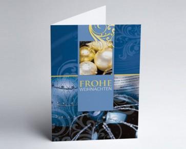 Weihnachtskarte 150016-101 Klassische Eleganz blau