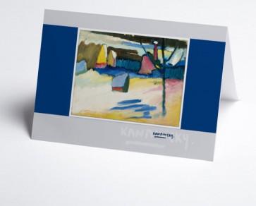 Weihnachtskarte 150064-112 Kunst Kandinsky blau