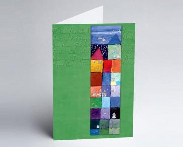 Weihnachtskarte 150134-102 Kunst international grün