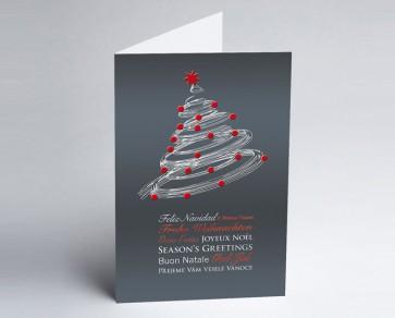 Weihnachtskarte 150139-104 Moderner Weihnachtsbaum grau