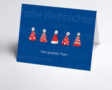 Weihnachtskarte 150164-112 Teamkarte Nikolausmütze