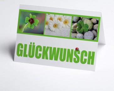 Grusskarte 150859-112 Glücksymbole