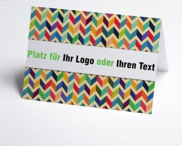 Logo-Grusskarte 150867-112 abstraktes Design