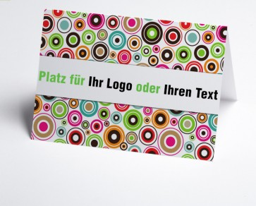 Logo-Grusskarte 150868-112 abstrakte Kreise.