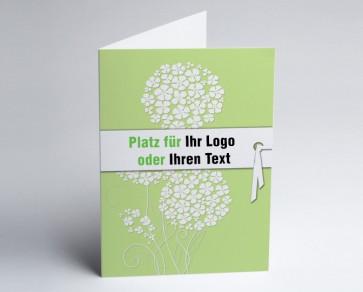 Logo-Grusskarte 150870-102 Zierlauch grün.