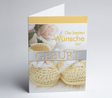 Grusskarte 150964-112 Babykarte
