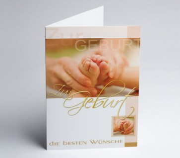Grusskarte 150965-112 Babykarte