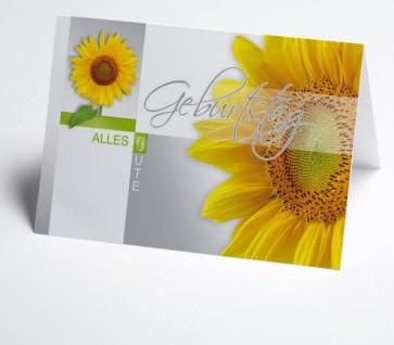 Grusskarte 150970-112 zum Geburtstag, Sonnenblume