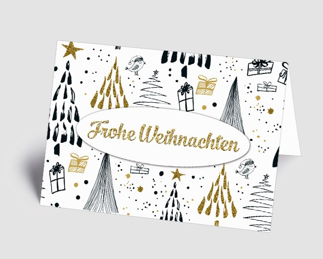 Moderne Weihnachtskarten.Weihnachtskarte 1518301 Moderne Illustration