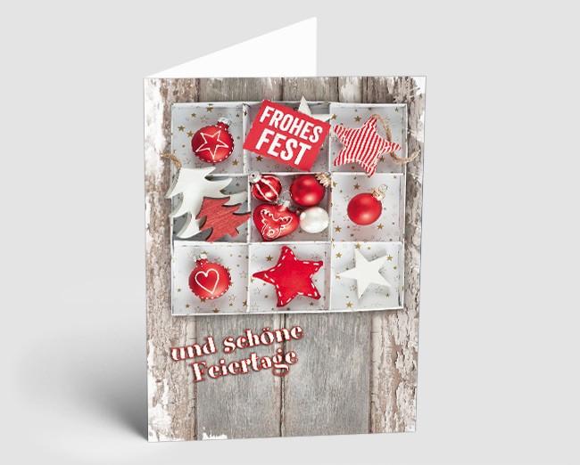 Holz Weihnachtskarten.Weihnachtskarte 1518303 Vintage Line Holz
