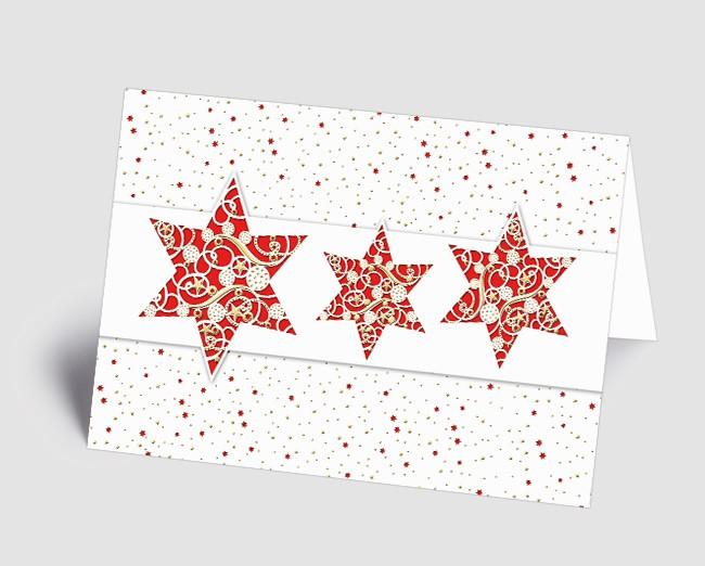 Weihnachtskarten Mit Bild.Weihnachtskarte 1518310 Filigrane Rote Sterne
