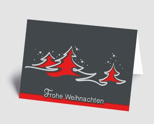 Rote Weihnachtskarten.Weihnachtskarte 1518315 Abstrakte Rote Bäume