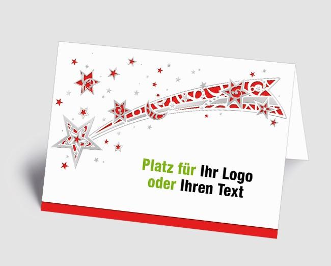 Logo-Weihnachtskarte 1518411 Sternschnuppe, rot /