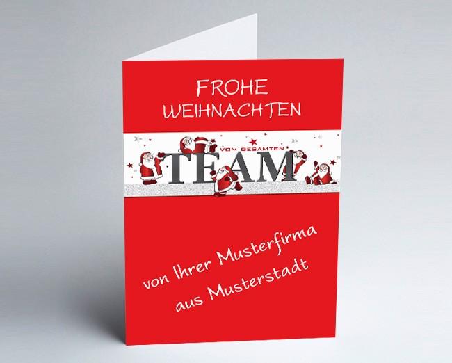 Grüße aus... Weihnachtskarte 156505-113 Team rot /