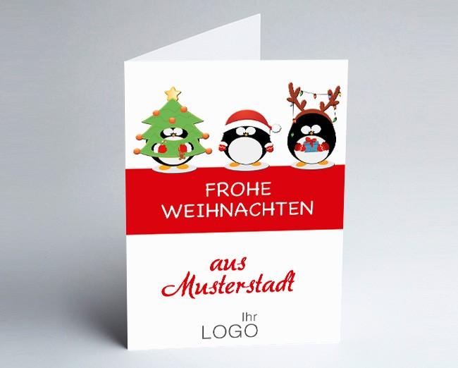 Grüße aus... Weihnachtskarte 156519-113 lustige Pinguine /