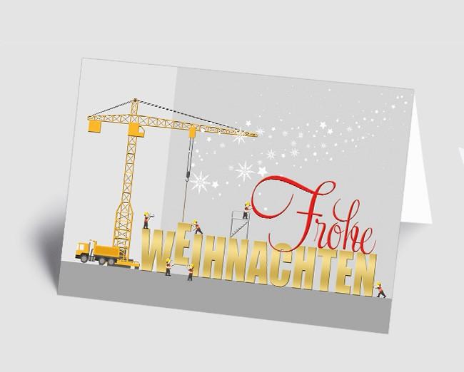 Weihnachtskarte 157505-112 Branche Bau und Handwerk /