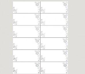 132097 Transparente Adressetiketten Blumen