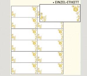 132098 Transparente Adressetiketten Blumen