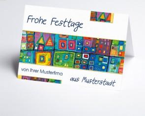 Grüße aus... Weihnachtskarte 150067-113 International Kunst blau