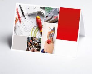 Grusskarte 150213-200  Logo-Branchenkarte Elektriker
