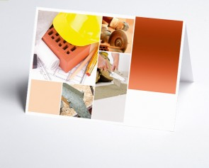 Grusskarte 150214-200 Logo-Branchenkarte Maurer/Fliesenleger